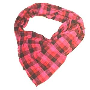 Accessories - Follow Your Own Path Pink & Black Blanket Scarf